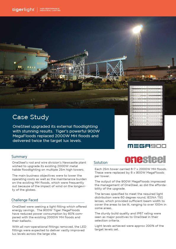 2020 Case Study - ONESTEEL